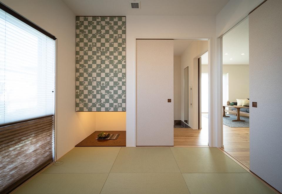 和室スペース-八戸市-内覧会「調和する家」