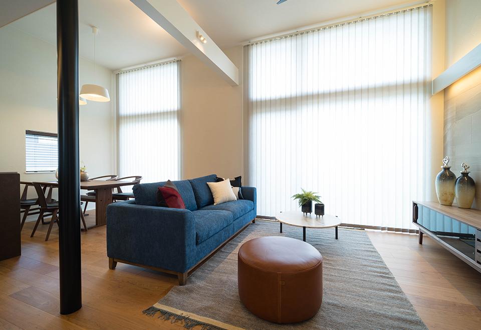 小松ヶ丘モデルハウス「リゾートスタイルの家」大開口サッシ