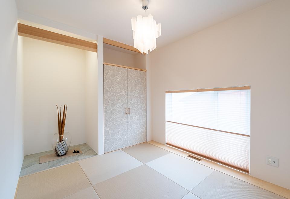 十和田市-内覧会「展望大窓のある家」和室スペース